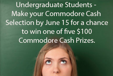 Undergrad Commodore Cash Selection