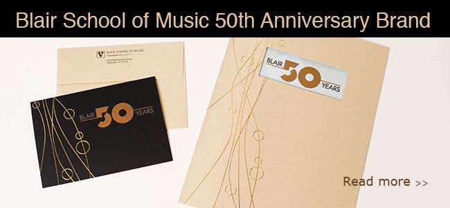 Blair 50th Anniversary Branding