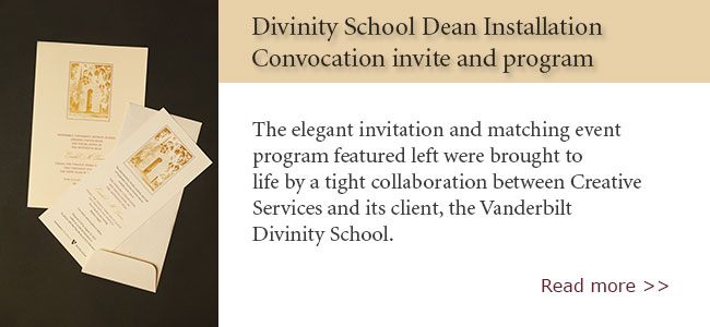 Divinity Dean Convocation Invite and Program