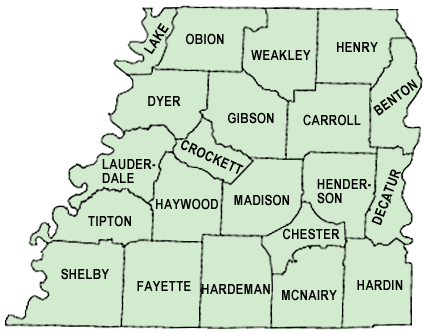 Map Of West Tennessee Map | Community Relations | Vanderbilt University