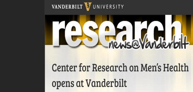 Center for Research on Men's Health opens at Vanderbilt