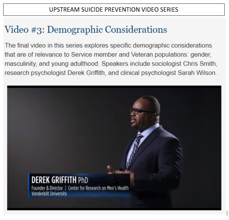 Upstream Suicide Prevention