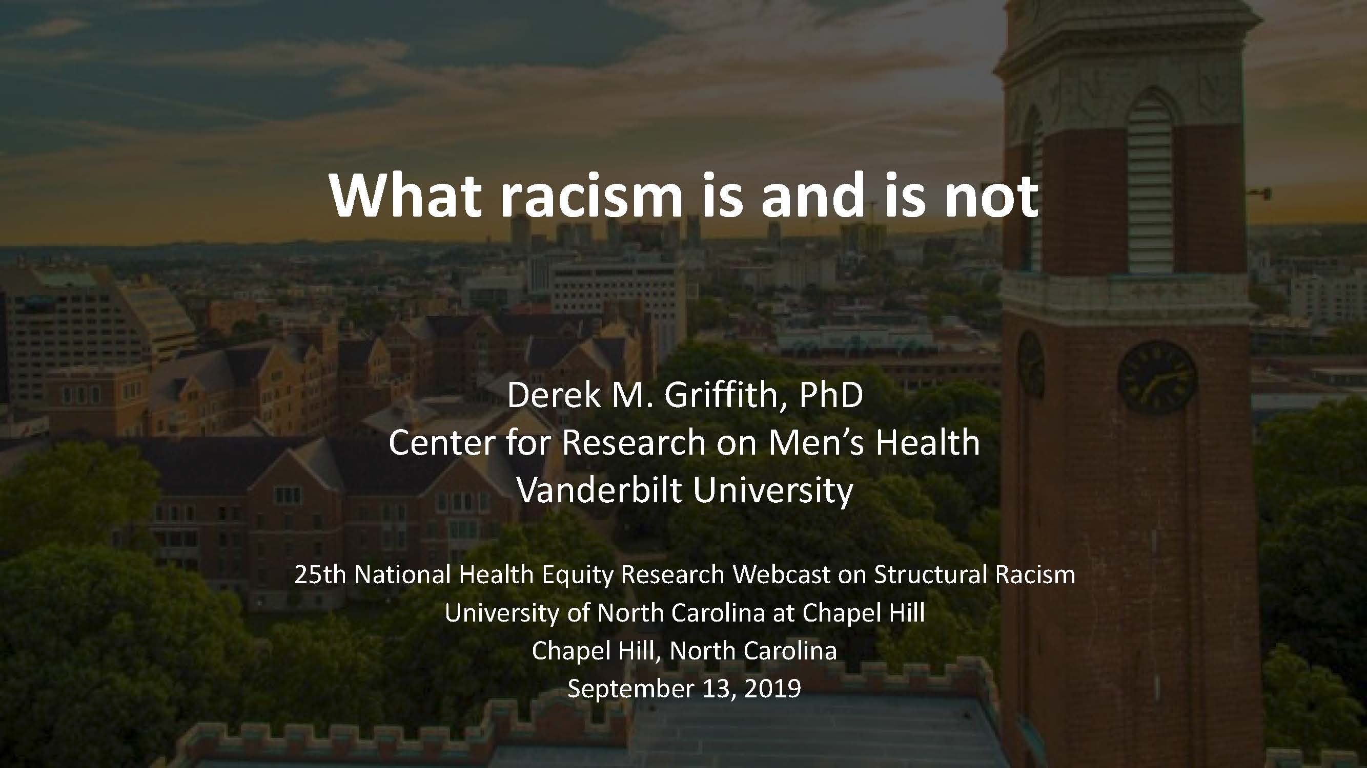 UNC Health Equity Research Webcst