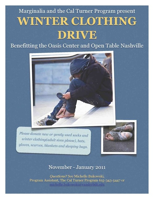 Winter clothing drive poster