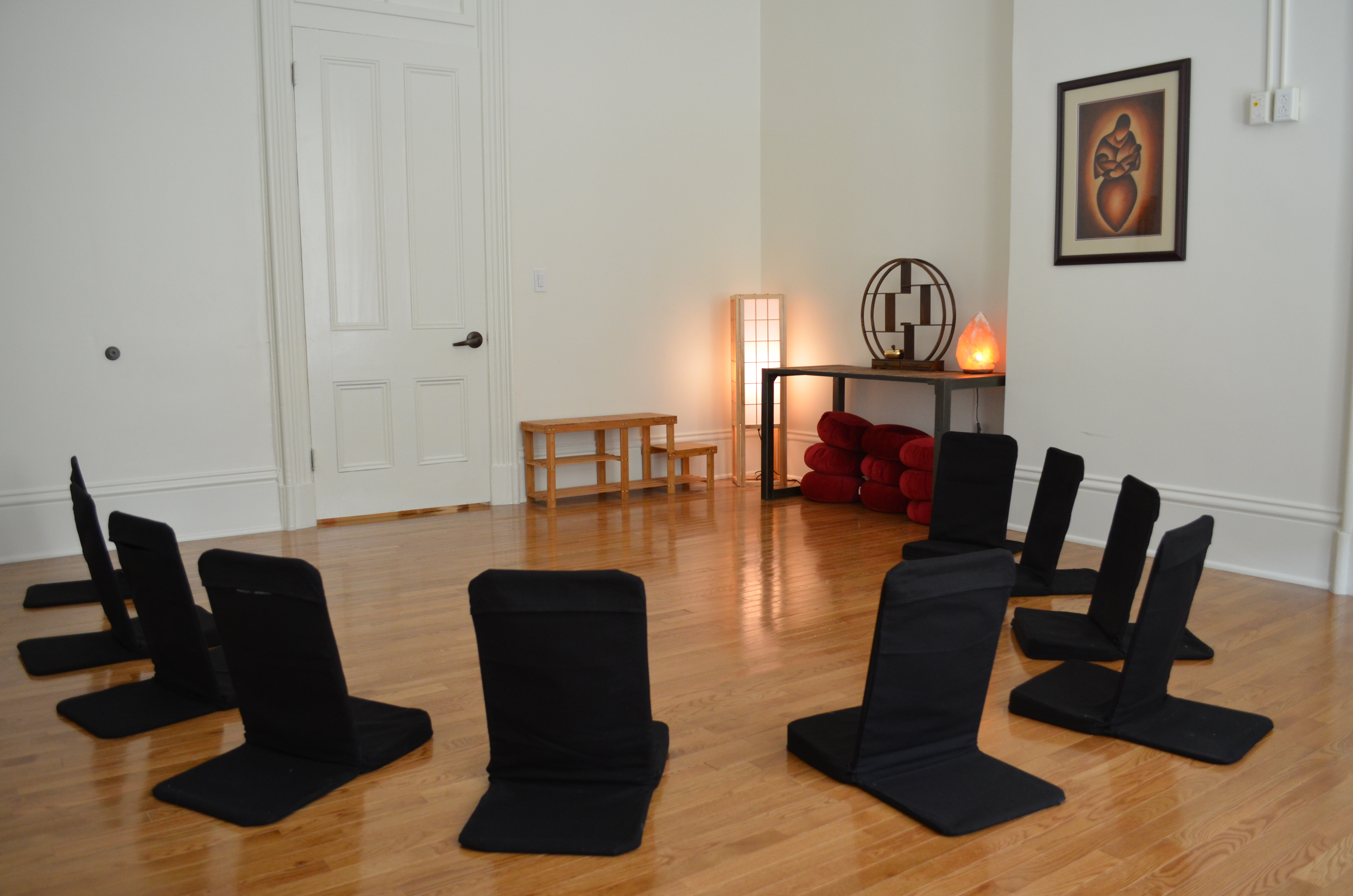 The Center for Student Wellbeing offers opportunities for yoga and meditation.