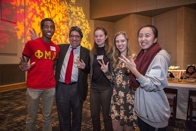 Chancellor Nick Zeppos welcomes students staying on campus during the Thanksgiving Holiday.