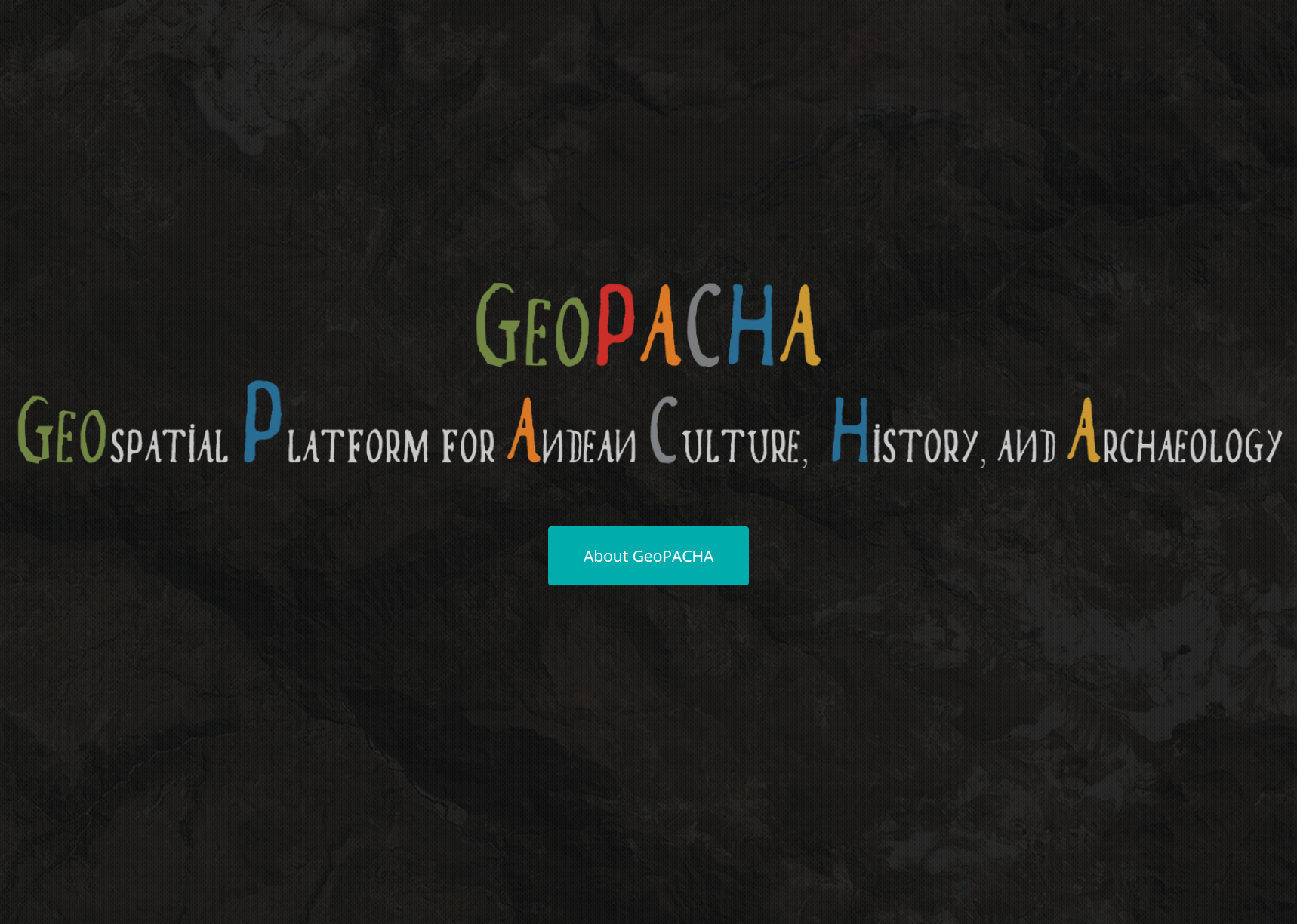 Image of the GeoPacha acronym and full title