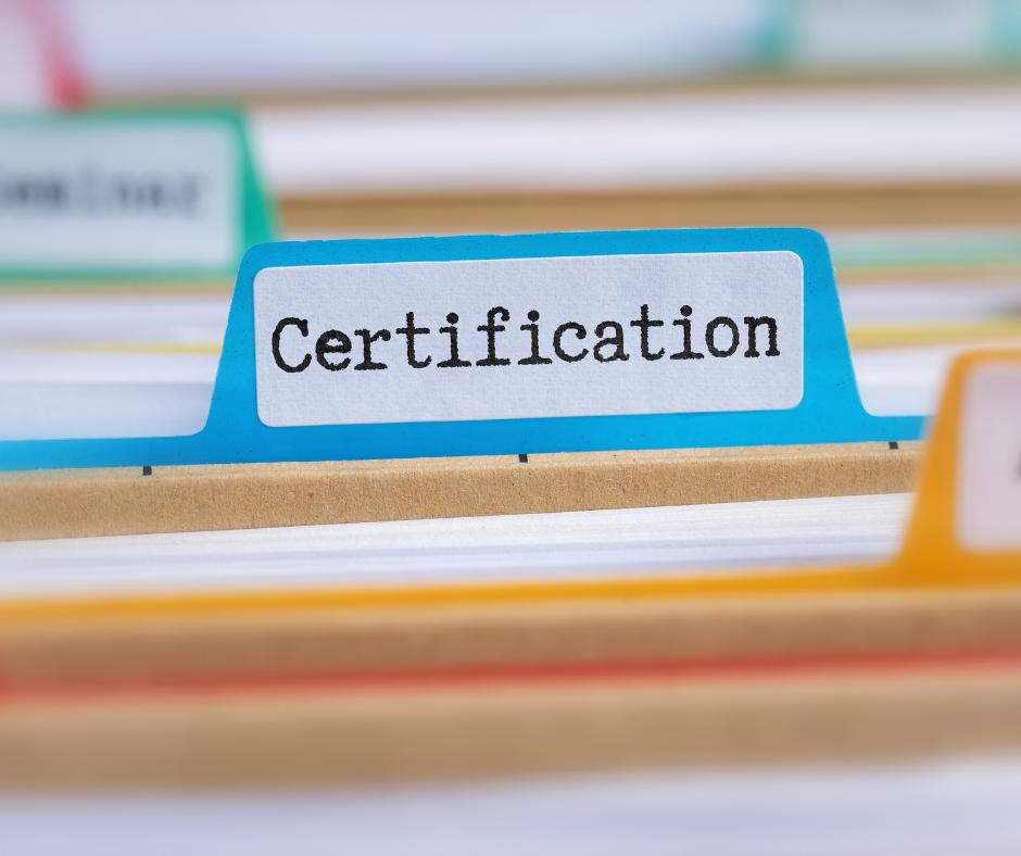 file folder reads certification