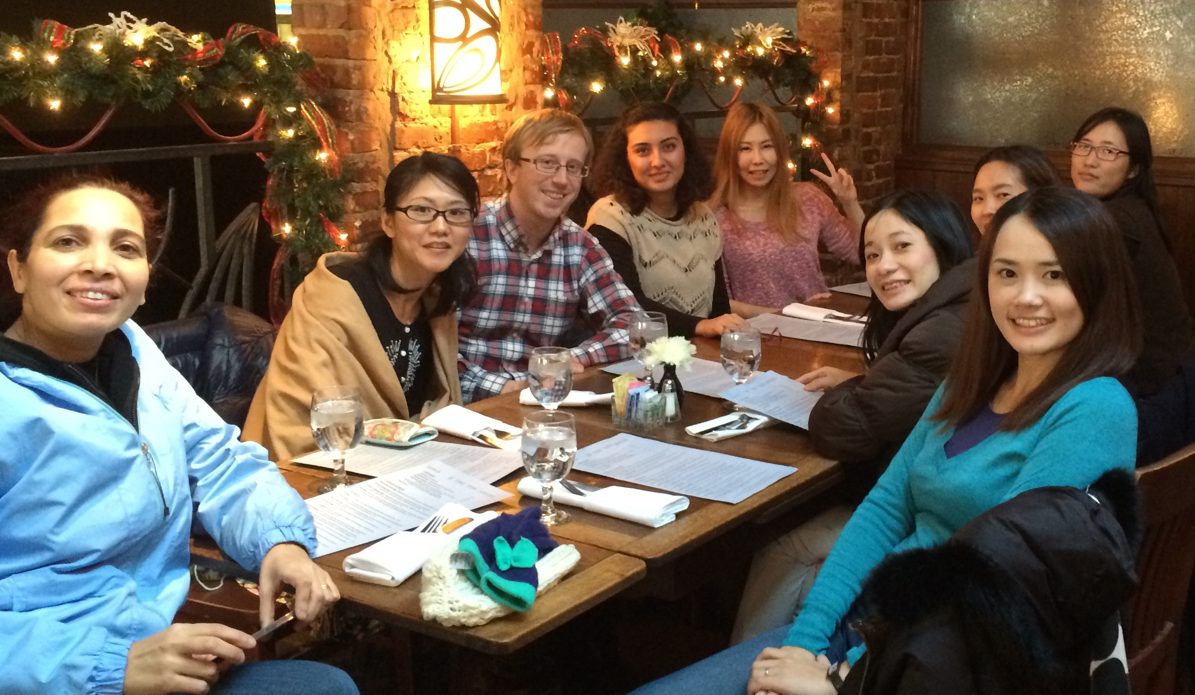 chatELC Participants at Semester-End Dinner at Tin Angel