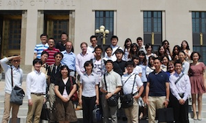 Summer 2011 LLM Students at the Chancery Court in Downtown Nashville.
