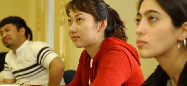 Students in class at the Vanderbilt University English Language Center