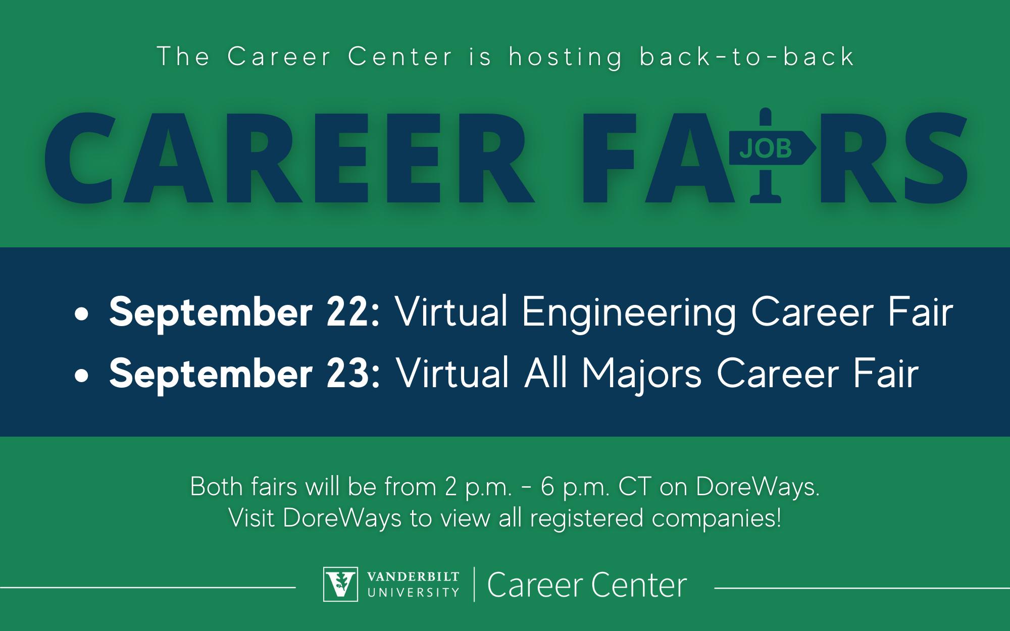 Career Center Career Fairs Ad