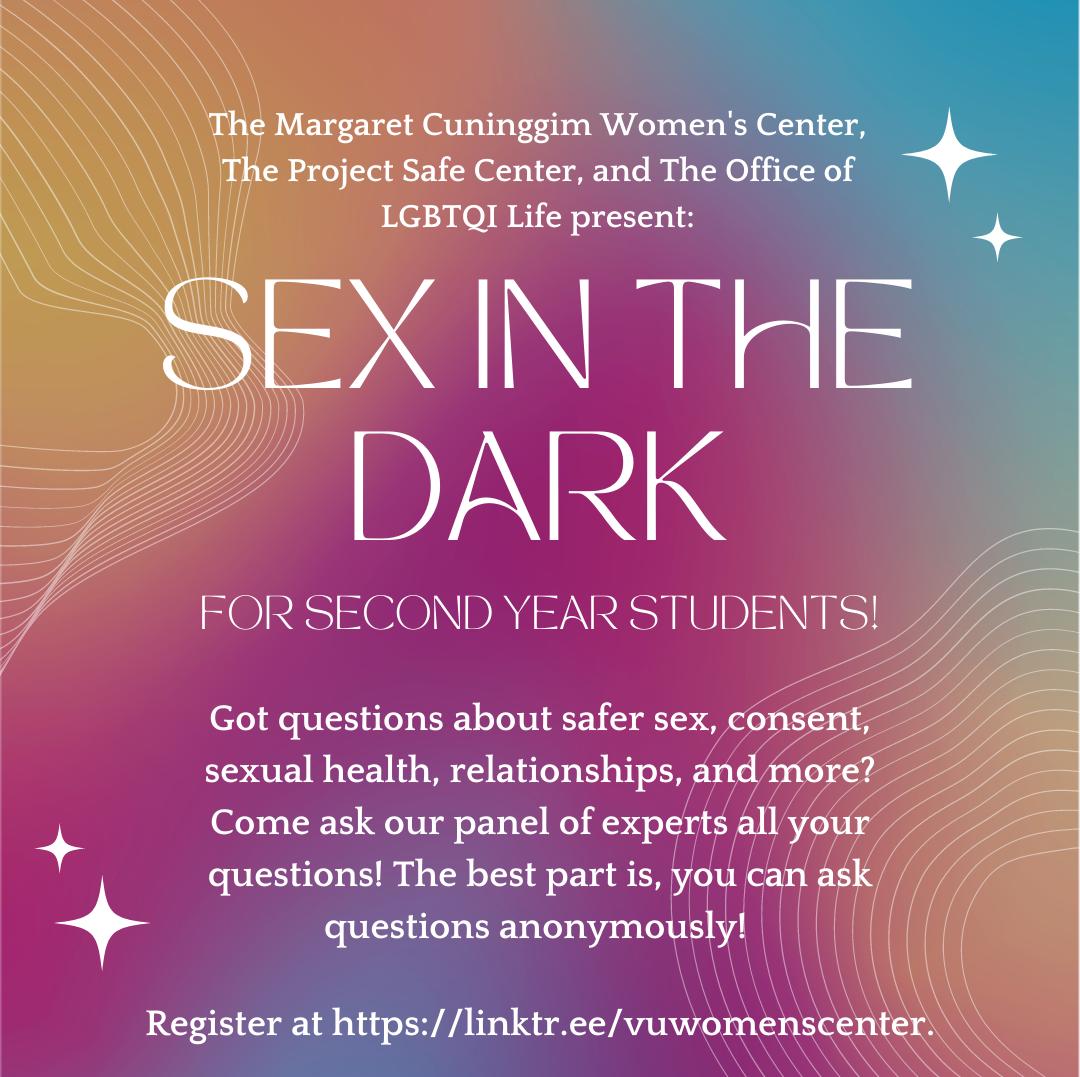 Sex in the Dark event flyer
