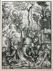 "The Lamentation, from the suite ""Seven Woodcuts to the Great Passion"""