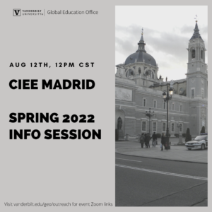 Study Abroad Info Session poster
