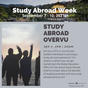 Study Abroad Week event flyer