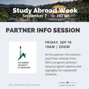 Partner Info Session Poster
