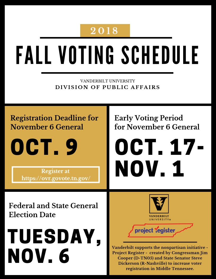 Fall Voting Schedule 2018
