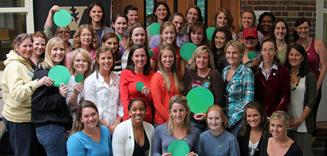 Professor Moore shared Green Dots with her class of Women's Health Nurse Practitioner students