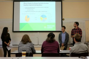 Undergraduate students presented findings from their action-research project on Charlotte Avenue to representatives of the Nashville District Council of the Urban Land Institute in December.