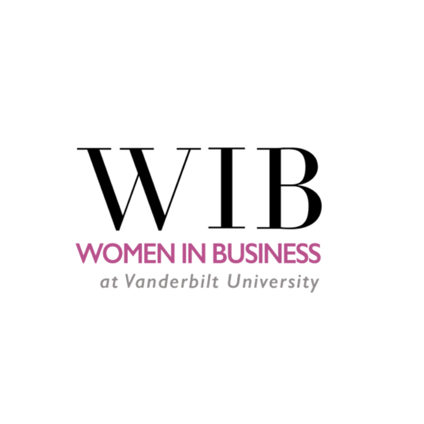 WIB in large black text with Women in Business in pink below
