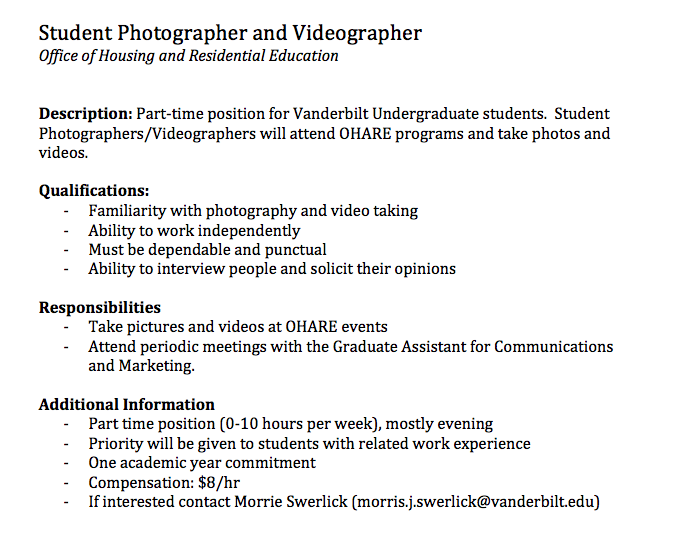 help wanted innervu vanderbilt university