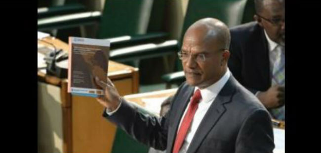 Jamaica's National Security Minister Referencing LAPOP's Report