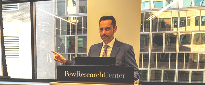 Daniel Montalvo presents LAPOP's quality control system at Pew Research Center