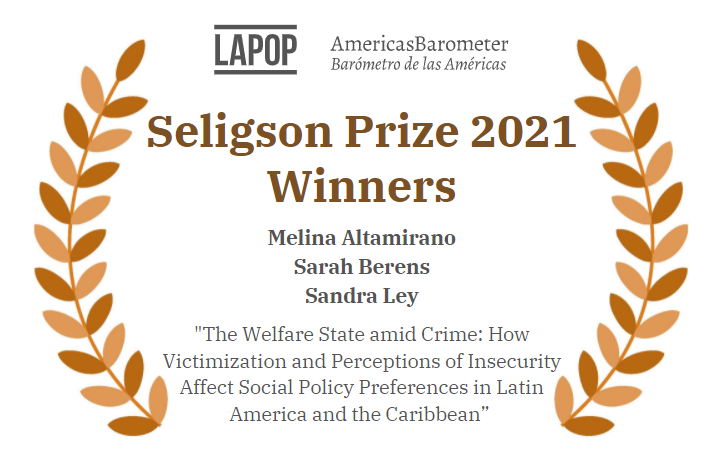 We are proud to announce the winners of this year's Seligson Prize