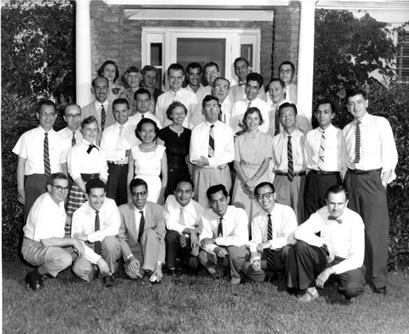 The first master's class, 1956-1957.