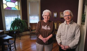 Jeane Smith and Melba Moore are two of the local volunteers who saved and renovated the house.