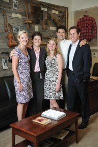 Tennessee Senator Lamar Alexander's office has strong Vanderbilt ties—the senator himself is an Arts and Science grad. From left, alumni staffers Mary-Sumpter Lapinski, Allison Martin, former staffer and current Senate Rules Committee staff Lindsey Ward, Nick Magallanes and former staffer Conrad Schatte.