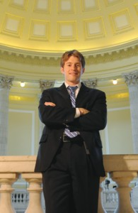 Jon Boughtin in the rotunda of the Cannon Office Building. Boughtin serves as senior legislative assistant for New York Congressman Bill Owens.