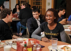 During dinner on Monday–Thursday, students must speak exclusively in their designated languages. It can be a challenge—and it can be fun.