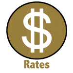 Rates Button Outline