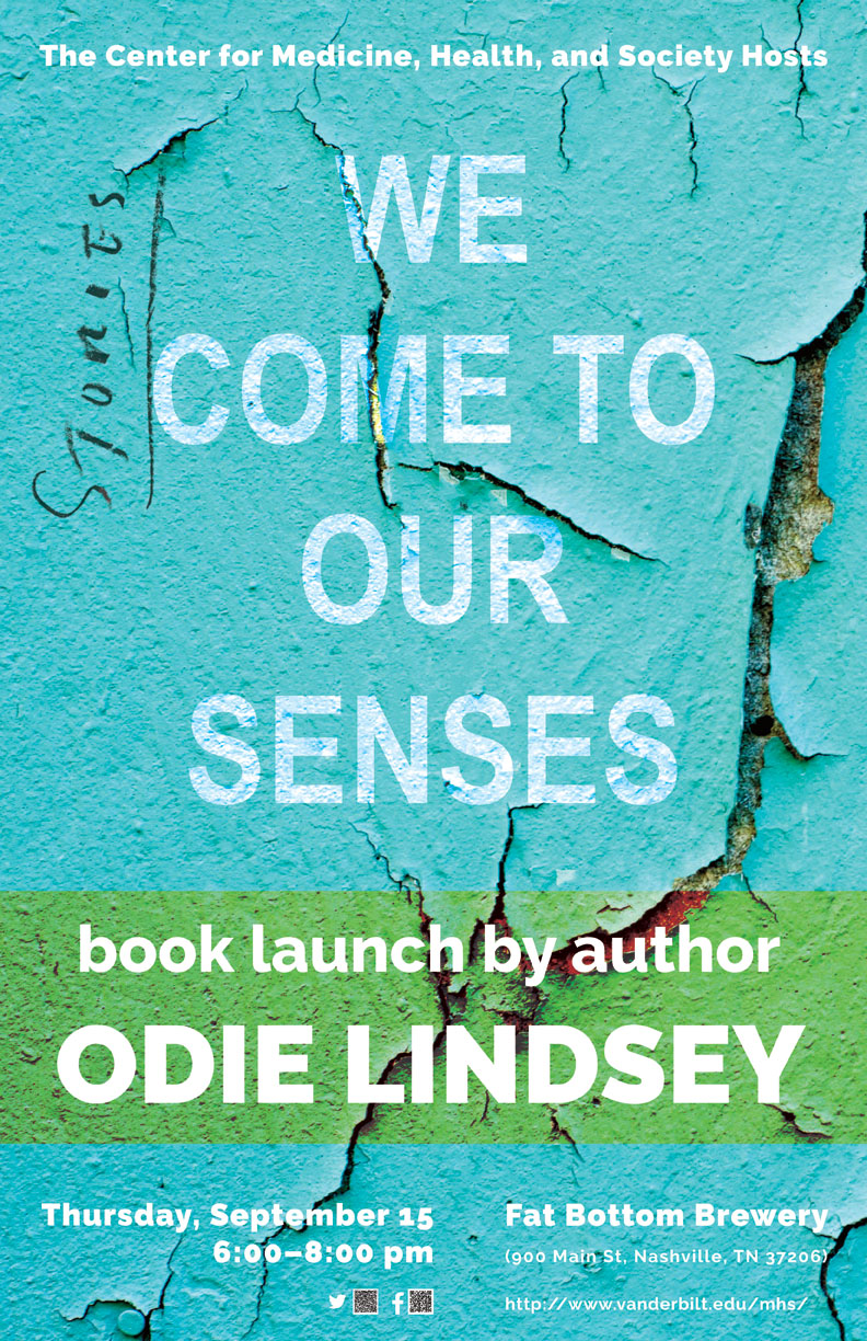 Please join us to celebrate the publication of MHS Professor Odie Lindsey's new book We Come to Our Senses.