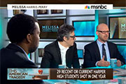 Director Jonathan Metzl appears with Ira Glass on the Melissa-Harris Perry Show