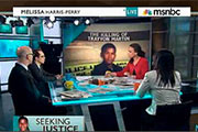 Jonathan Metzl appears on a panel discussing the Trayvon Martin tragedy on MSNBC, March 24, 2012