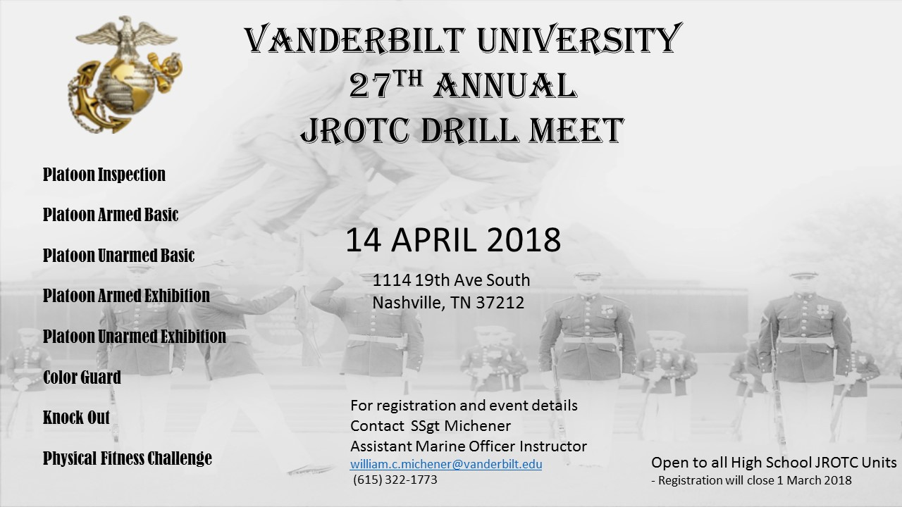 Th Annual Jrotc Drill Meet  Events  Nrotc  Vanderbilt University