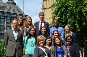 Cohort members meet with Stephen Timms MP at the House of Parliament