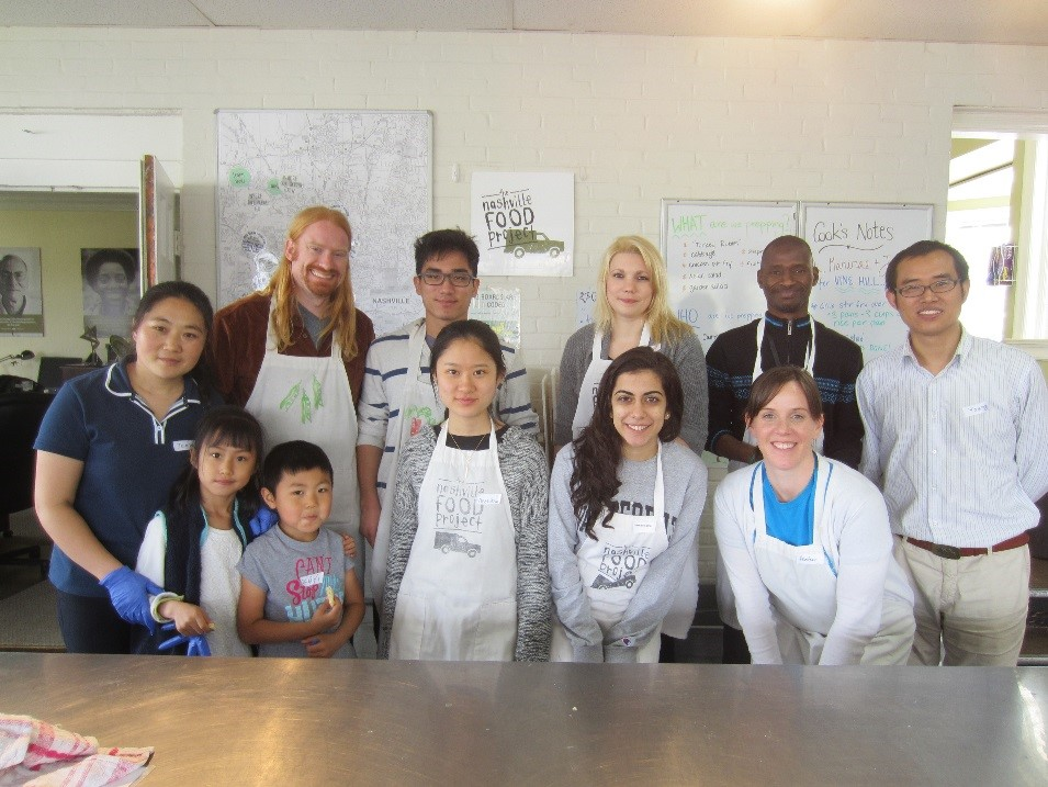 Students in the Nashville Food Project kitchen