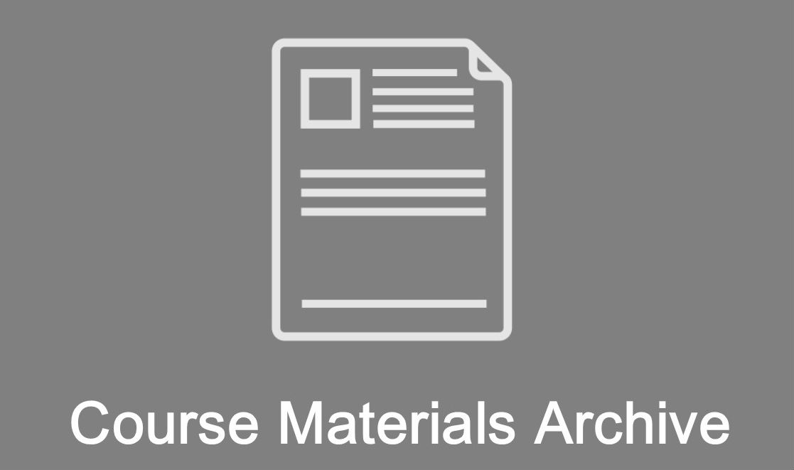 course materials archive