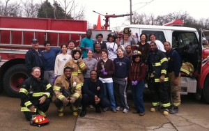 Hubert H. Humphrey Fellows studying at Peabody this year helped paint a firehouse on the Martin Luther King Jr. Day of Service on Dr. King's birthday. The above photo was taken at Firestation 25, White's Creek.