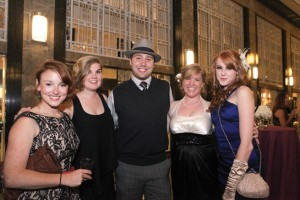 Students attending the Graduate and Professional Students Gala in April at the Frist Center for the Visual Arts included (from left) Molly Druce, Meghan Davenport, Jordan Kook, Claire Holman and Jamie Eldredge.