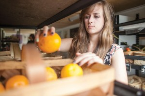 2011 Vanderbilt Divinity School alumna Kelley Frances Fenelon directs the Nashville Mobile Market.