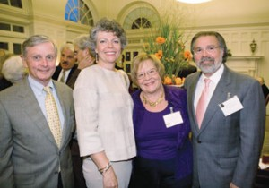 From left: Honoree Dr. David Thombs, Dean Benbow, Cherrie Farnette and Jeffrey Eskind