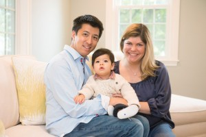 Christopher, his wife Shaunna, a nurse, and 1 ½ -year-old son William, in their Massachusetts home. (Photo by Cynthia