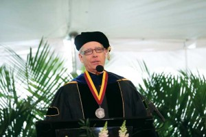 Bruininks at Vanderbilt's Commencement in May 2013. (Joe Howell/Vanderbilt)