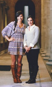 Celeste Martinez, left, recipient of the Allison Poarch Scholarship, with Allison Poarch, BS'07