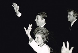 Ever in the background, Jerry Parr (far right) with President Ronald Reagan and First Lady Nancy Reagan. (provided by Parr)